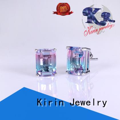 Quality Kirin Jewelry Brand women zirconia 925 sterling silver earrings