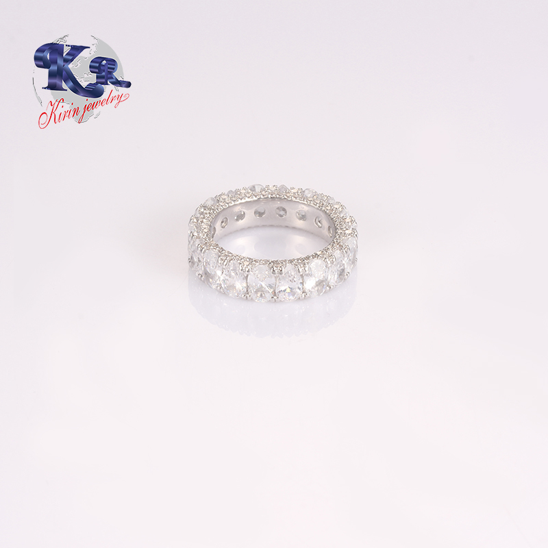 Top Quality Circle AAAAA CZ 925 Sterling Silver Ring High Polish