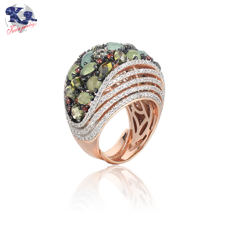 925 sterling silver ring rose gold color for women Kirin Jewelry 19522