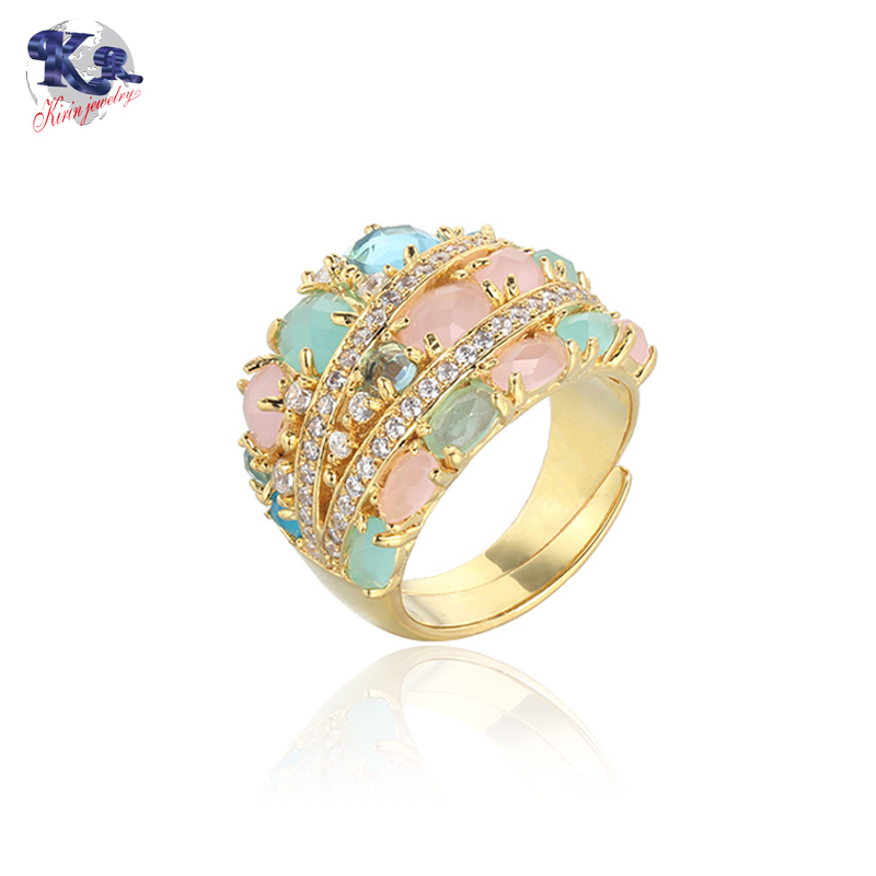 925 sterling silver ring adjustable gold color for women Kirin Jewelry 18833