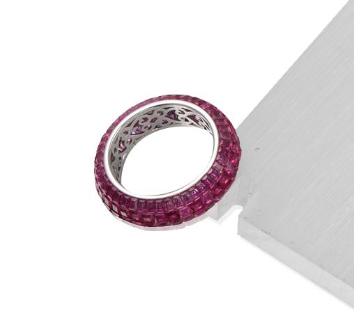 Wedding Engagement Anniversary Band Rings for Women Girls Ruby Ring Kirin Jewelry 104795