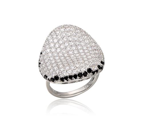 Fashion women 925 sterling silver cubic zircon Rings Kirin Jewelry 104521