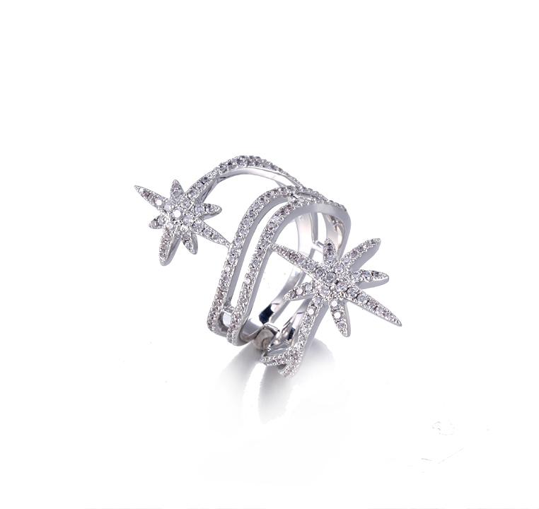 Lucky Star Ring Fashion Jewelry For Women Kirin Jewelry 105047