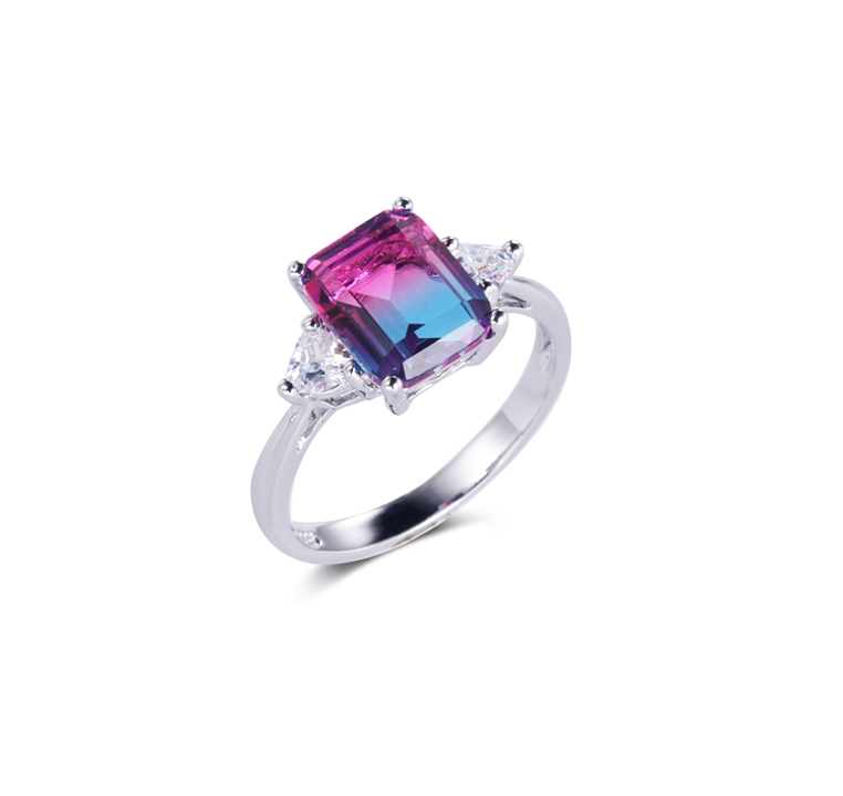 Cool 925 Sterling Silver colorful Rings for Women Kirin Jewelry 18627