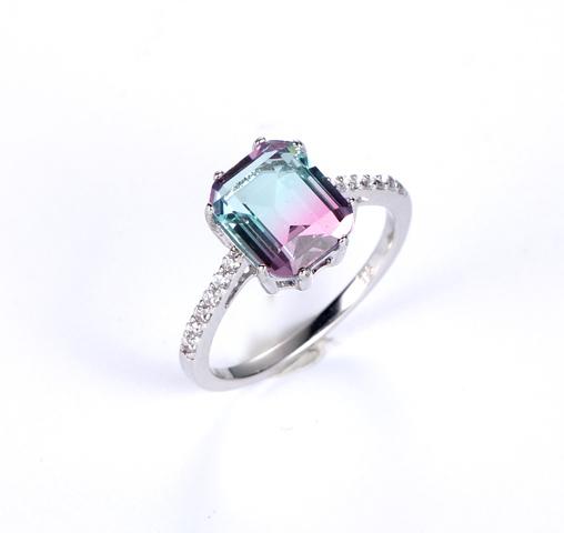 925 big stone fashion jewelry ring for women Kirin Jewelry 100972