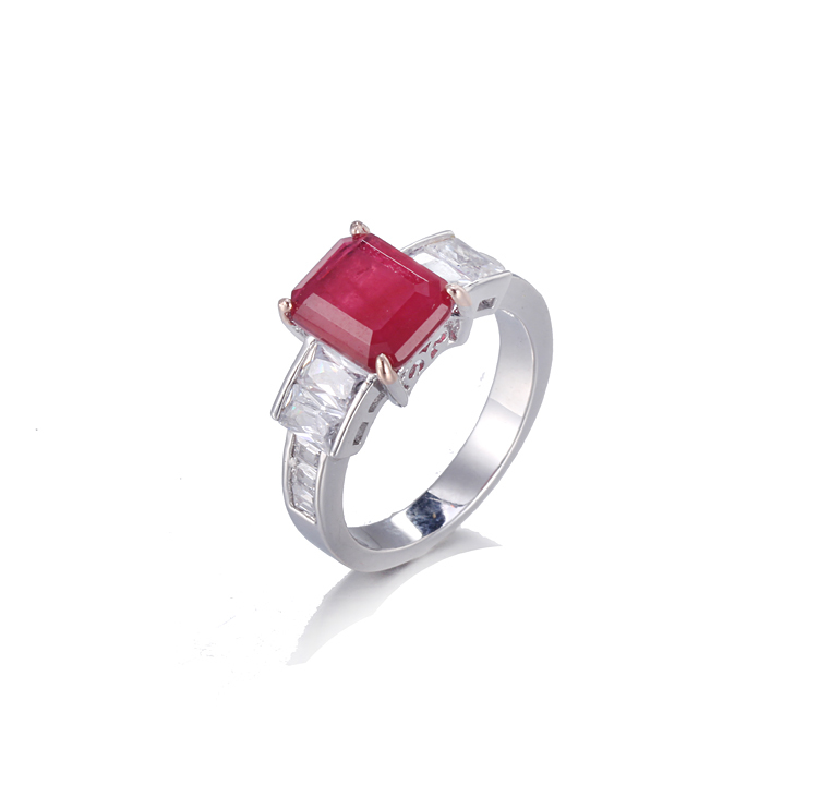 Genuine 925 Sterling Silver Ring July Birthstone Women Kirin Jewelry 102368