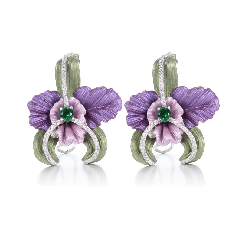 100% 925 Sterling Silver Stud Earrings for Women Kirin Jewlery 39442