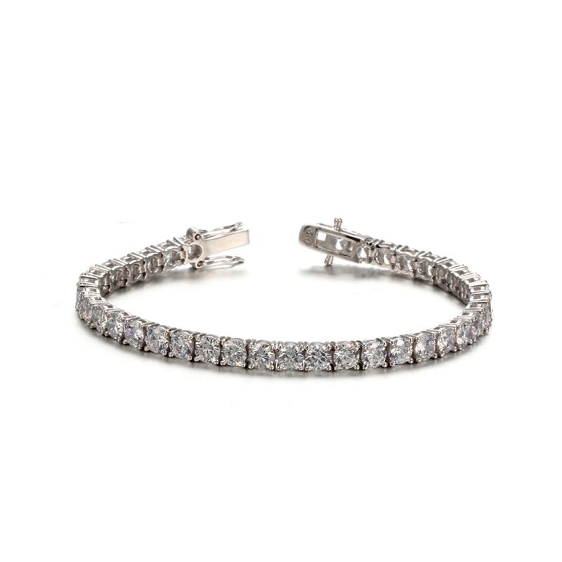 18K White Gold Plated Cubic Zirconia Classic Tennis Bracelet 61932 Kirin Jewelry
