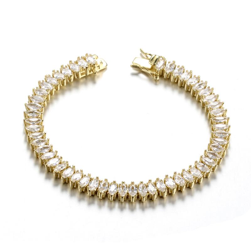 Kirin Jewelry -Find Wholesale 925 Jewelry Wedding Bracelet With Marquis Cut Cz Platinum-2
