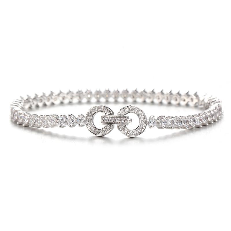 Womens 925 Sterling Silver Infinity Endless Love Symbol Charm Bracelet 61977 Kirin Jewelry