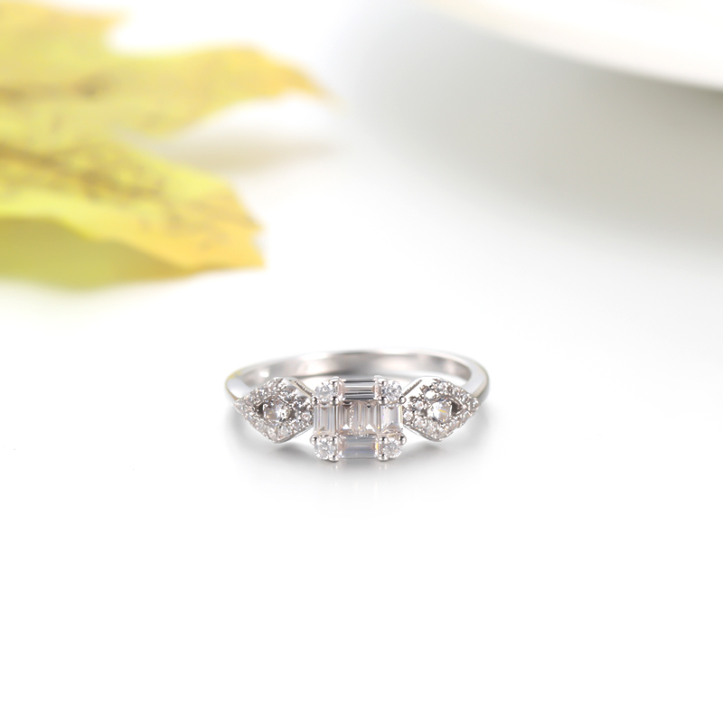 Engagement Ring 925 Sterling Silver Ring Baguette Ring 104211