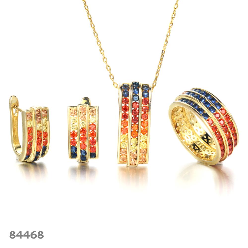 925 silver jewelry set invisible setting jewelry sets Kirin Jewelry 26328 84468