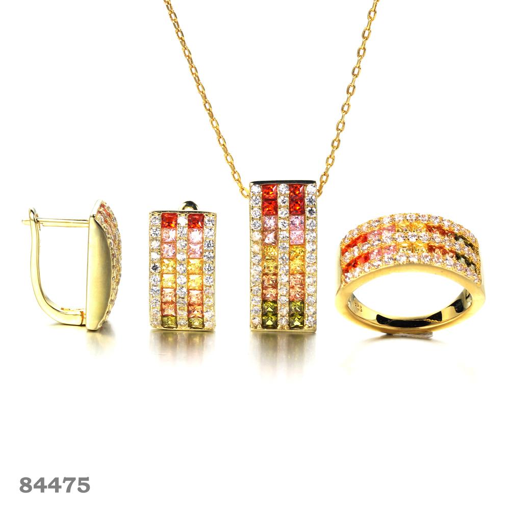 925 silver jewelry set Gold plated fashion jewelry set Kirin Jewelry 100056 84475