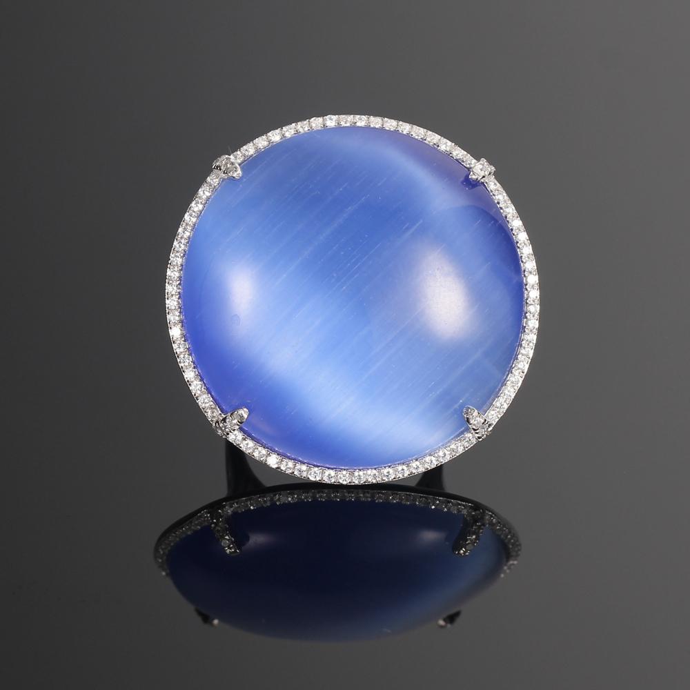 925 silver jewelry set prong setting jewelry cat eye jewelry for women kirin jewelry 82535