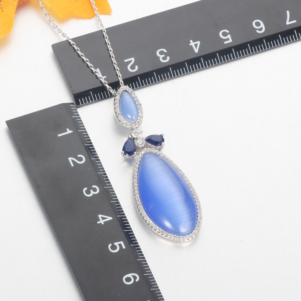 Kirin Jewelry -Professional Fine Jewelry Sets Pendant Necklace And Earring Set Supplier-2