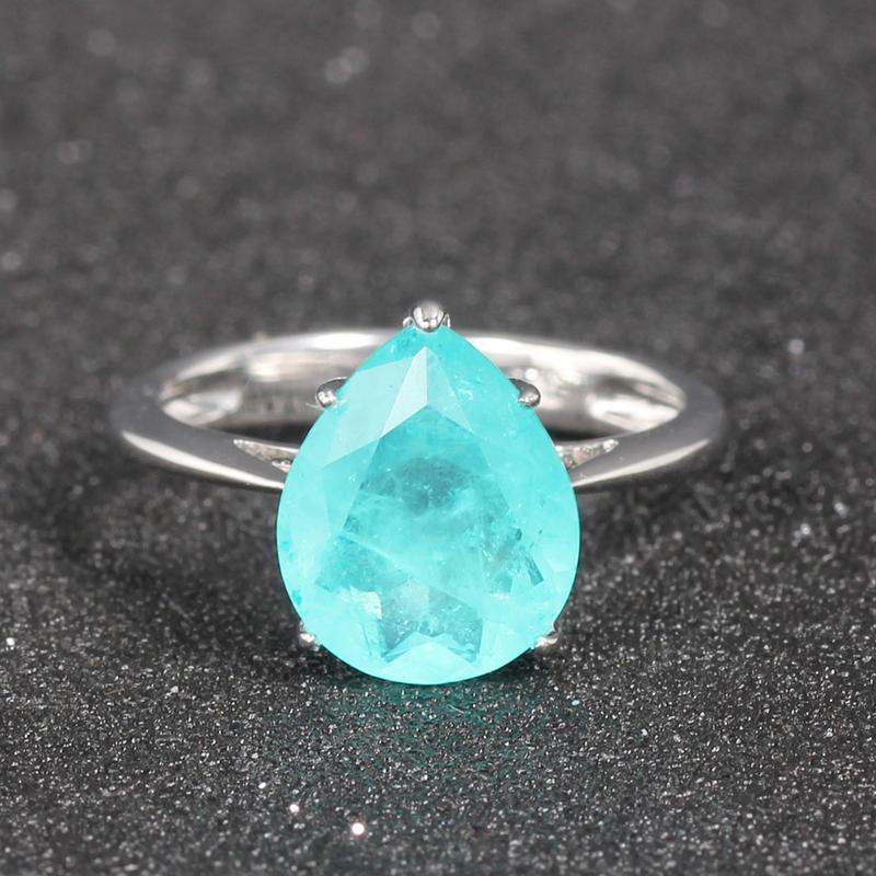 925 silver ring drop shape rhodium plated Kirin Jewelry 86046