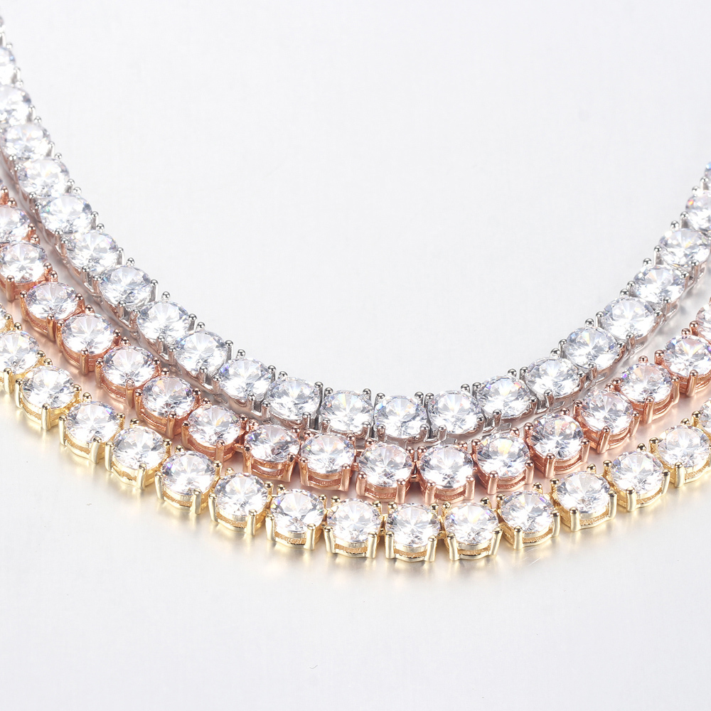 Women Elegant 925 Sterling Silver Cubic Zirconia Casual Chain Necklace 71093