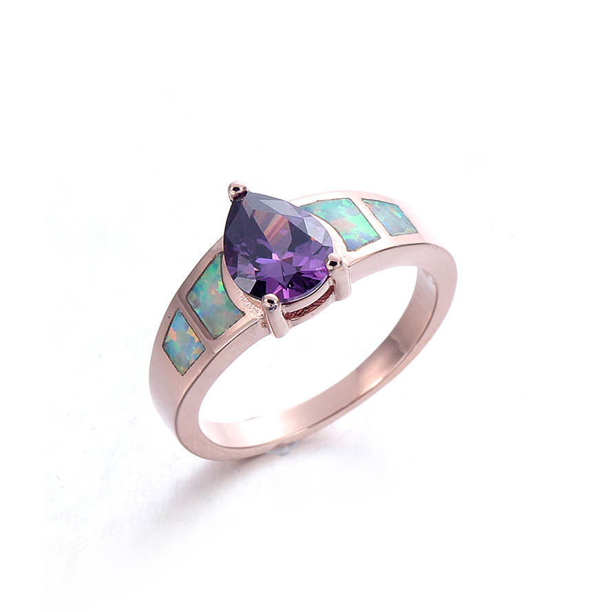 Women Fashion Opal Ring 925 Sterling Silver Jewelry Wedding Bridal Party Ring Gifts  103540