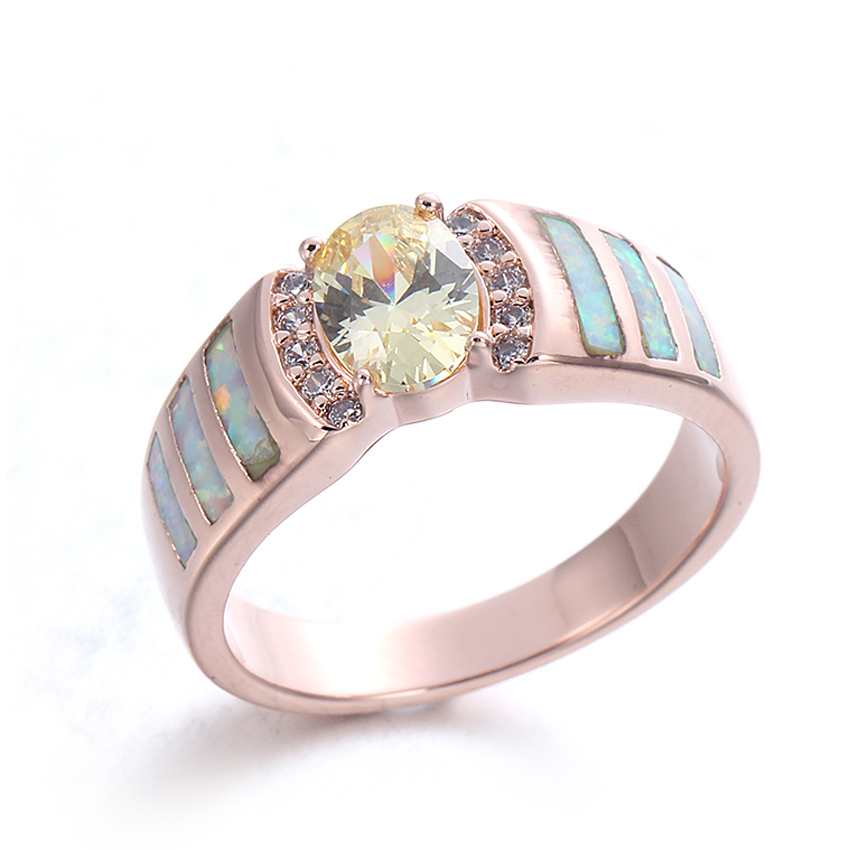 Authentic Opal Gemstone 925 Sterling Silver Ring Jewelry For Women 103544
