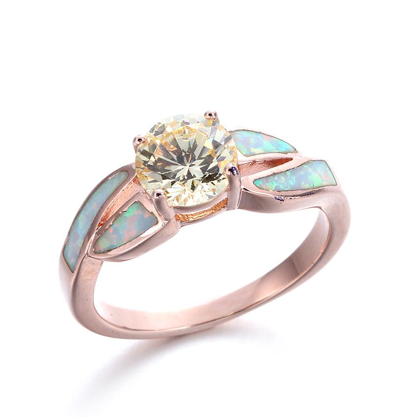 Stylish Women Blue Opal Jewelry Charming 925 Sterling Silver Ring Hotsale 103548