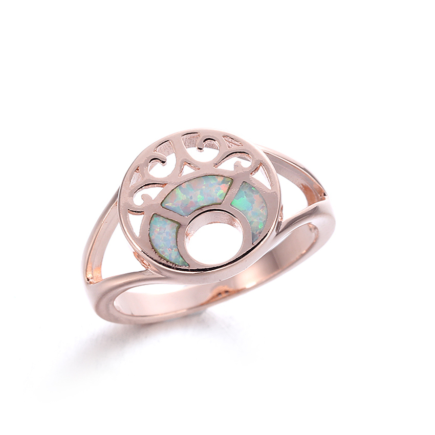 925 Sterling Silver White Opal Rings Wedding Engagement Jewelry Gifts For Women 103550