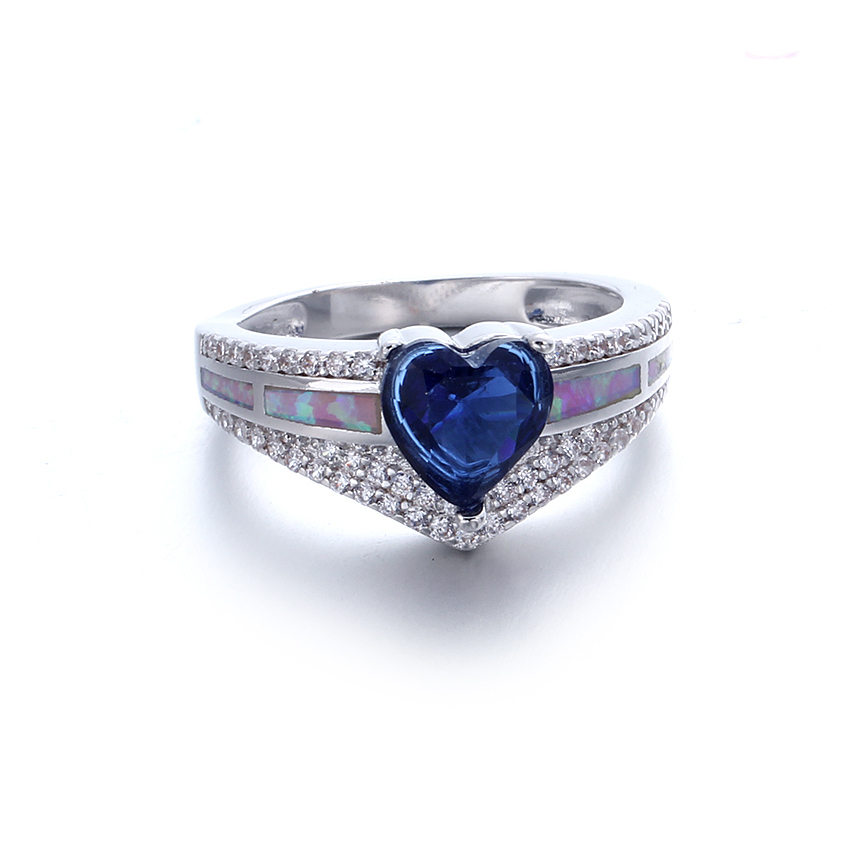 Fashion 925 Sterling Silver Opal Rings For Women Wedding Engagement Rings Jewelry 103555