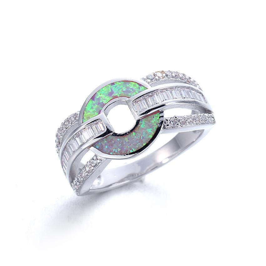 Elegant Opal Ring Fashion White Zircon Wedding Jewelry Rings for Women Engagement Promise Trendy Rings 103573