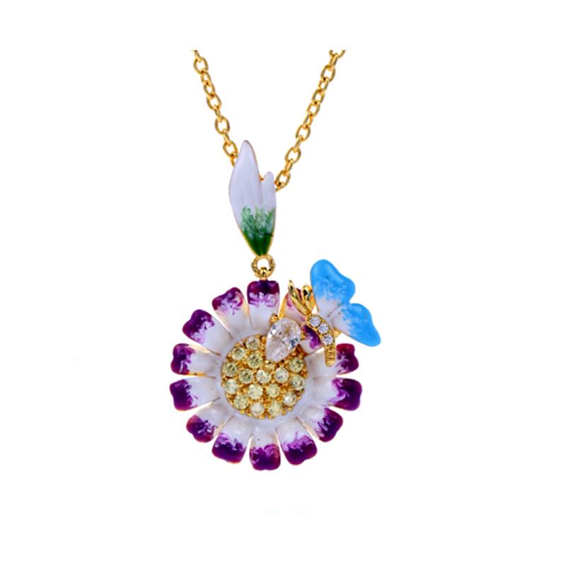 925 Sterling Silver Enamel Jewelry set Pendant/Earring/Ring for Women 84451