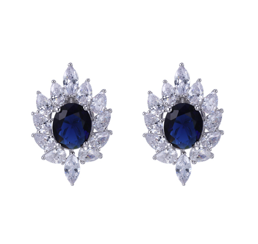 Women Authentic 925 Sterling Silver Earrings for Wedding Party Engagement 38003
