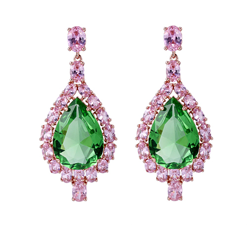 Fashion 925 Sterling Silver Earrings Cubic Zirconia Jewelry for Women 38027