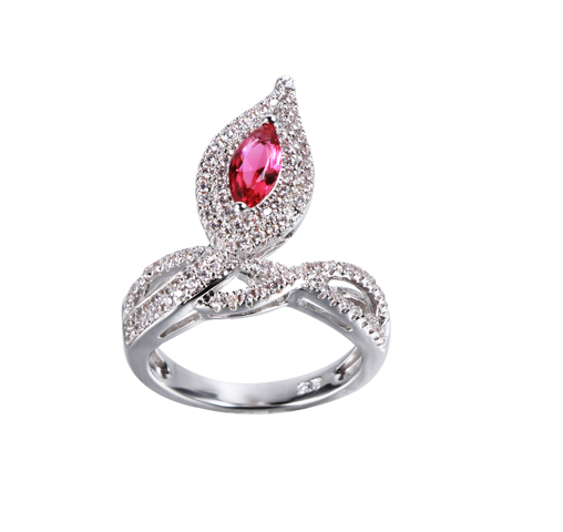 Fashion 925 Sterling Silver cubic Zircon Ring Jewelry For Wedding Engagement Party 104294