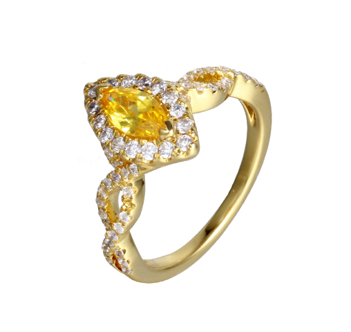 Charm 925 Sterling Silver Cubic Zircon Rings For Wedding Party Engagement 104476