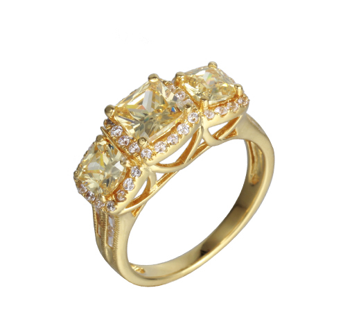 925 Sterling Silver 14K Gold Wedding Party Engagement Promise Ring Jewelry 104479