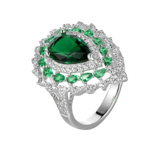 Women European 925 Sterling Silver Zirconia Rings Wedding Jewelry Gifts 83901