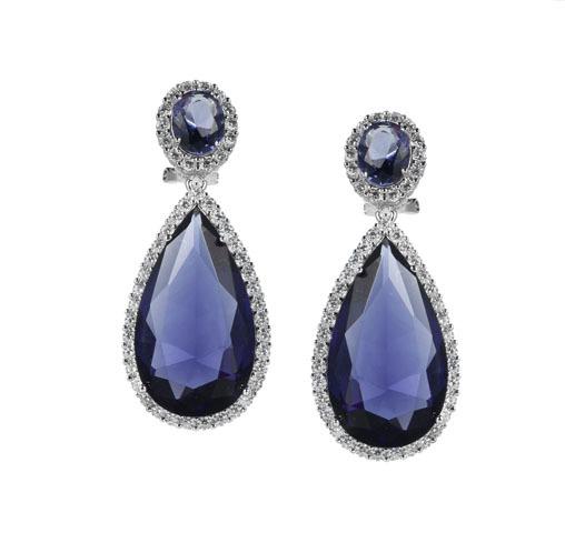 Women Classic 925 Sterling Silver Oval Cut Earrings Jewelry Gifts 84140