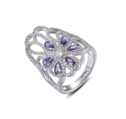 European Women Fashion 925 Sterling Silver Cubic Zircon Rings Jewelry Gifts 85503