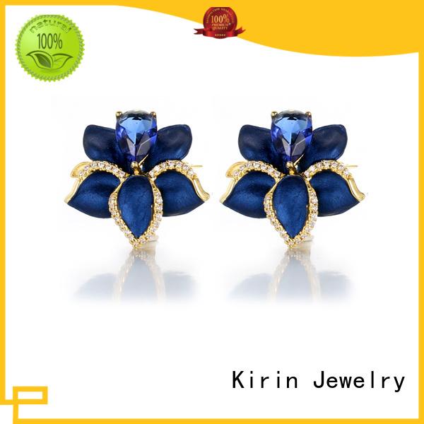 charm rings enamel stud good sterling silver jewelry Kirin Jewelry Brand