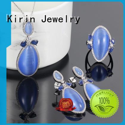 heart Custom setting 925 sterling silver jewelry sets jewlery Kirin Jewelry