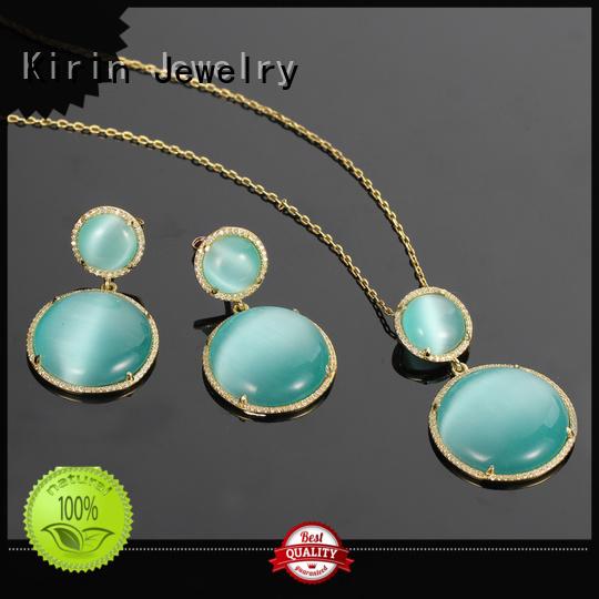 Kirin Jewelry Brand cat stone square heart contemporary silver jewellery