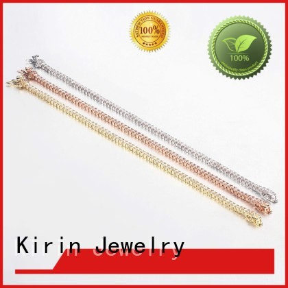 simple silver bracelet zirconia marquis 18k Warranty Kirin Jewelry