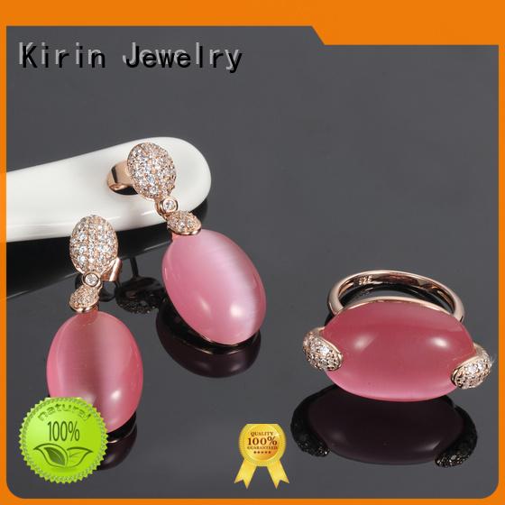 zircon square triangle jewellery Kirin Jewelry Brand contemporary silver jewellery supplier
