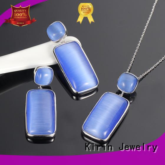 925 sterling silver wedding sets square ruby elegance Warranty Kirin Jewelry