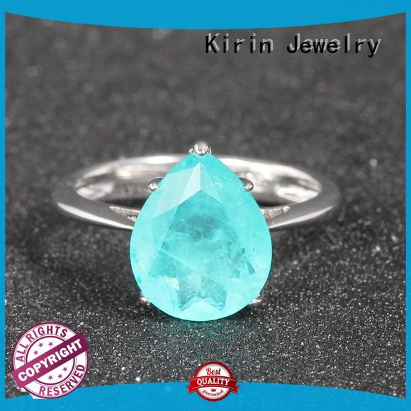 gold contemporary silver jewellery zircon Kirin Jewelry company