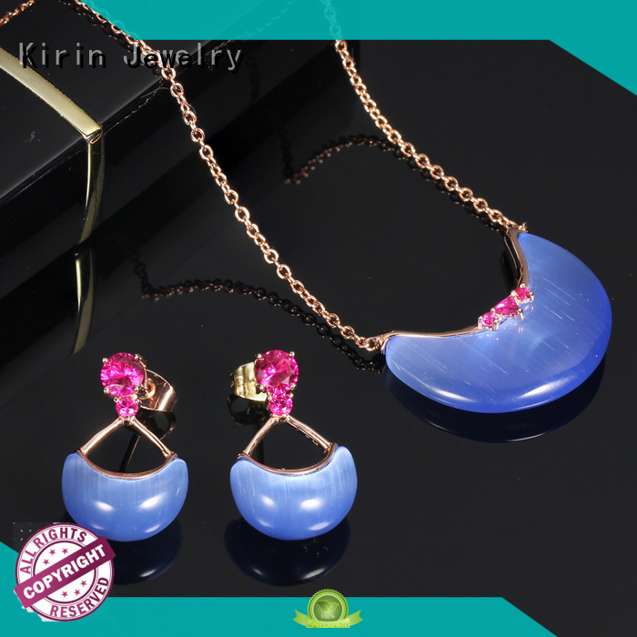 stone light 925 sterling silver jewelry sets plated Kirin Jewelry company