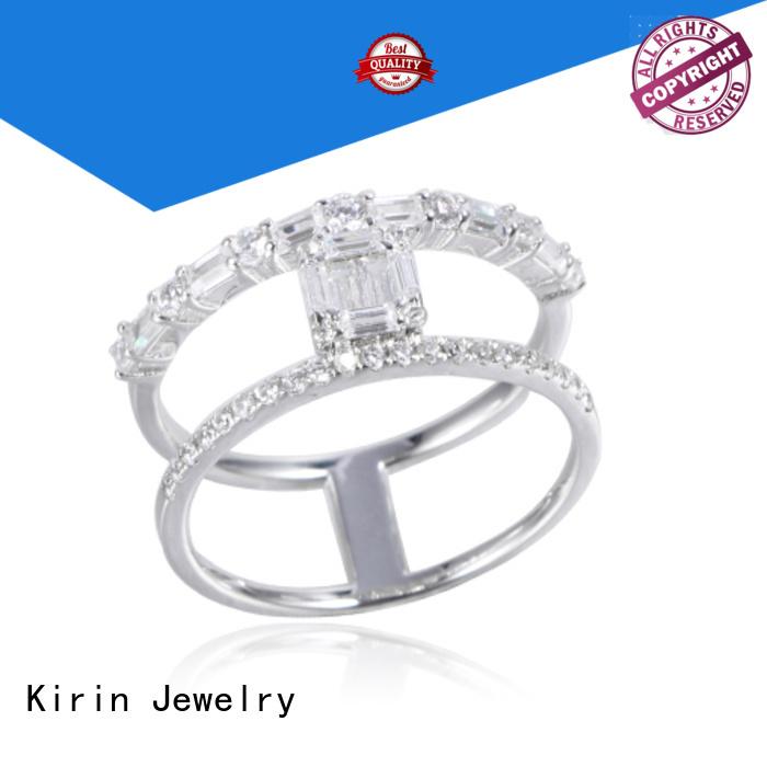 Kirin Jewelry Brand bangle heart arrival custom baguette ring