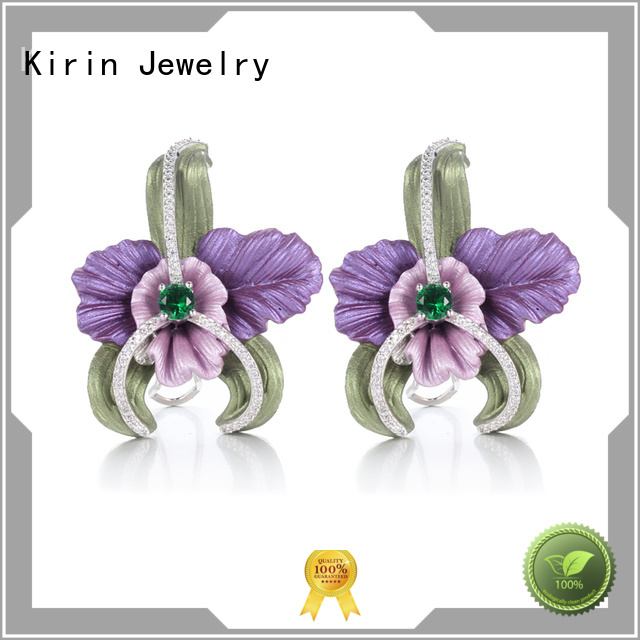 1pair 925 sterling silver earrings girls created Kirin Jewelry company