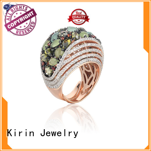 925 sterling silver jewelry rings stone party Kirin Jewelry Brand