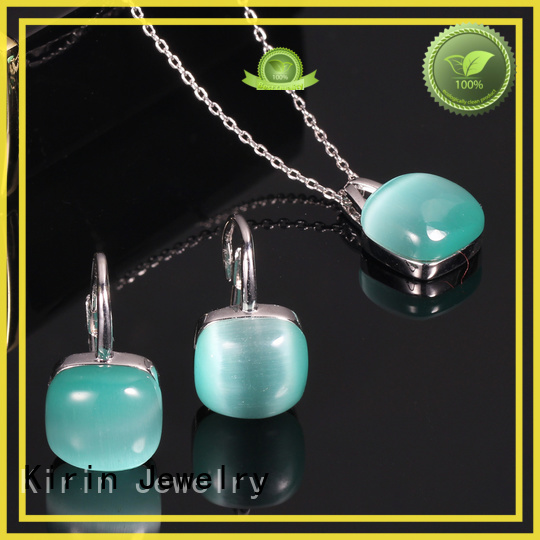 Kirin Jewelry Brand invisible 925 sterling silver wedding sets elegance supplier