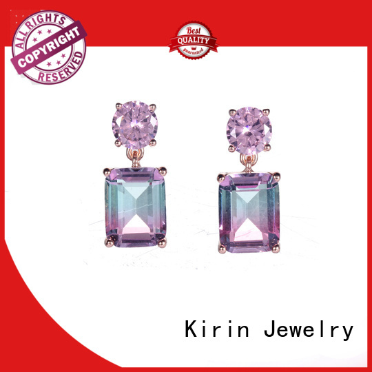 sterling charm fashion birthstone Kirin Jewelry Brand prong setting jewelry supplier