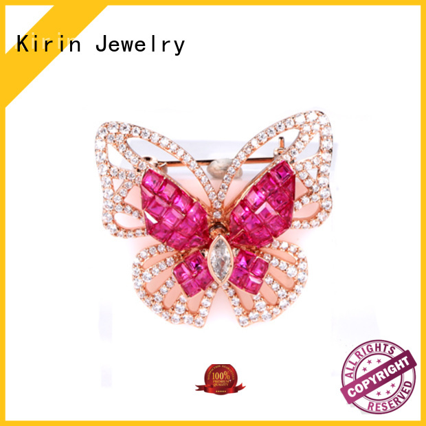 baguette women round Kirin Jewelry Brand invisible setting jewelry supplier